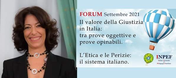 """Dr.ssa Rosa Maria Di Maggio: """"I media e la Scienza: considerazioni etiche per lo Scienziato forense"""""""
